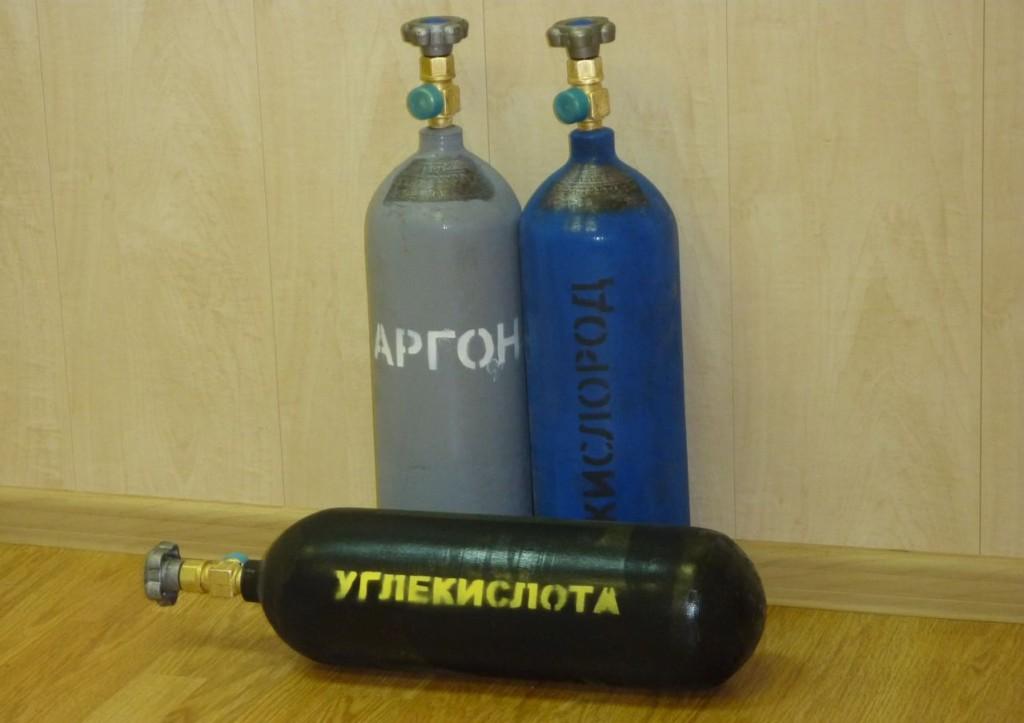 Сварочная смесь в баллонах - Аргон+углекислота+кислород