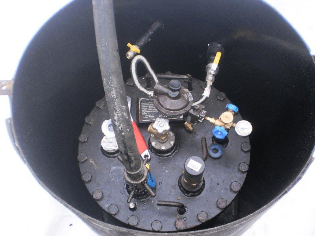 Заправка газгольдера газом при остатке 25-30 процентов