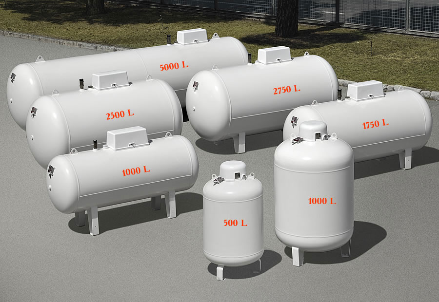Заправка газгольдера газом, все зависит от объема