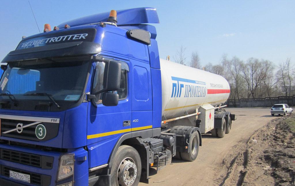 Заправка объемов газгольдера компанией Промтехгаз