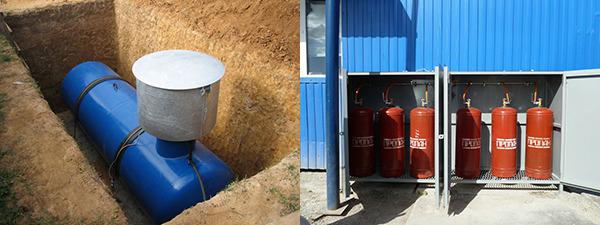Отопление пропан бутаном с помощью газгольдера или газовых баллонных установок
