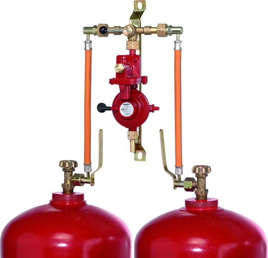 Устройство газового редуктора в баллонной установке