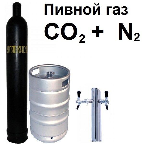 Оптимальный пивной газ - CO2 и N2