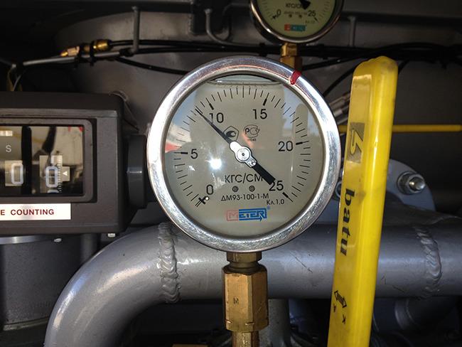 Газовоз оснащен контрольно-измерительными приборами
