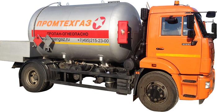 Перевозка газа компанией Промтехгаз