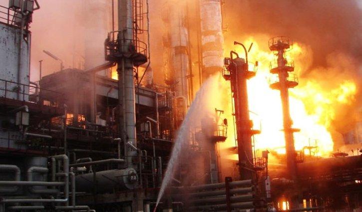 Возгорание на Локосовском заводе