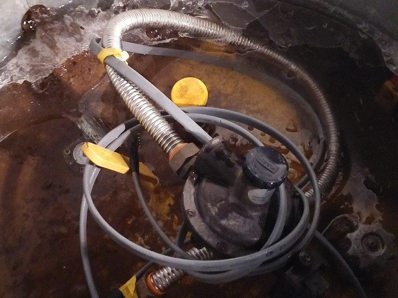 Замерзший газгольдер это причина остановки котла