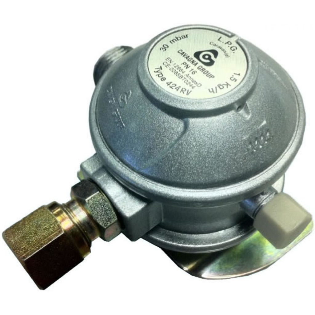 Пропановый редуктор с маркировкой давления и расхода газа