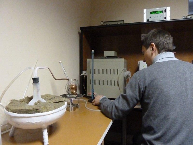 Передача газа на хроматограф для анализа