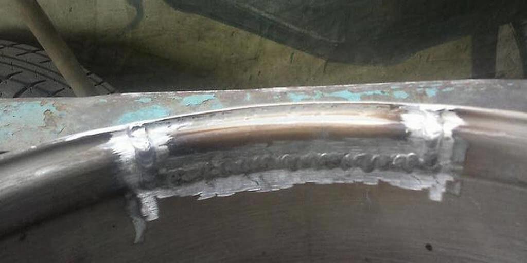 сварка и восстановление дисков авто - приваривание фрагмента