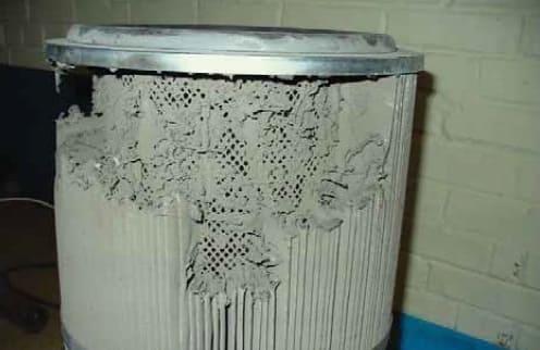 оплавление фильтровальной кассеты от сварочной пыли
