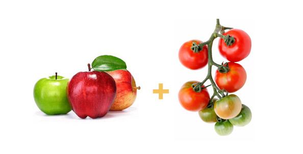 этилен от яблок способствует созреванию томатов