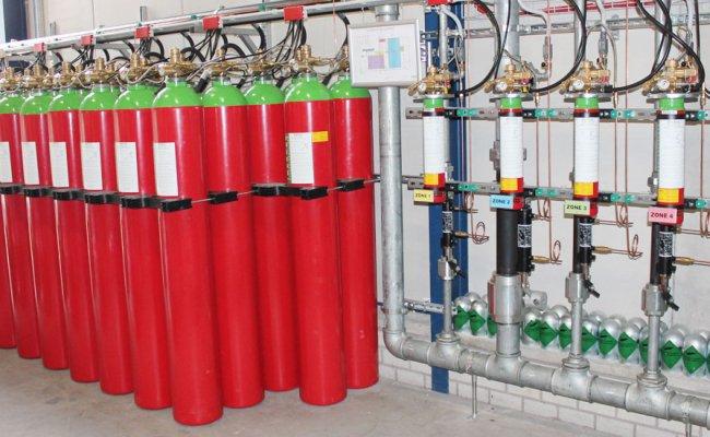 внешний вид системы газового пожаротушения