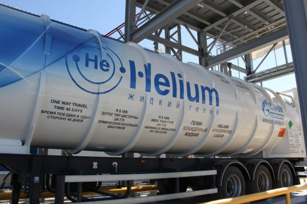 цистерна с гелием от Газпром