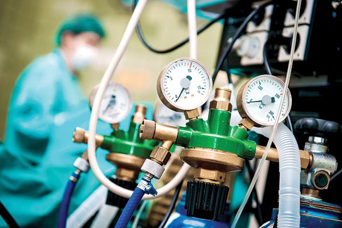 система подачи медицинского газа