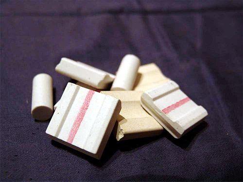 керамические подкладки - желтые и белые