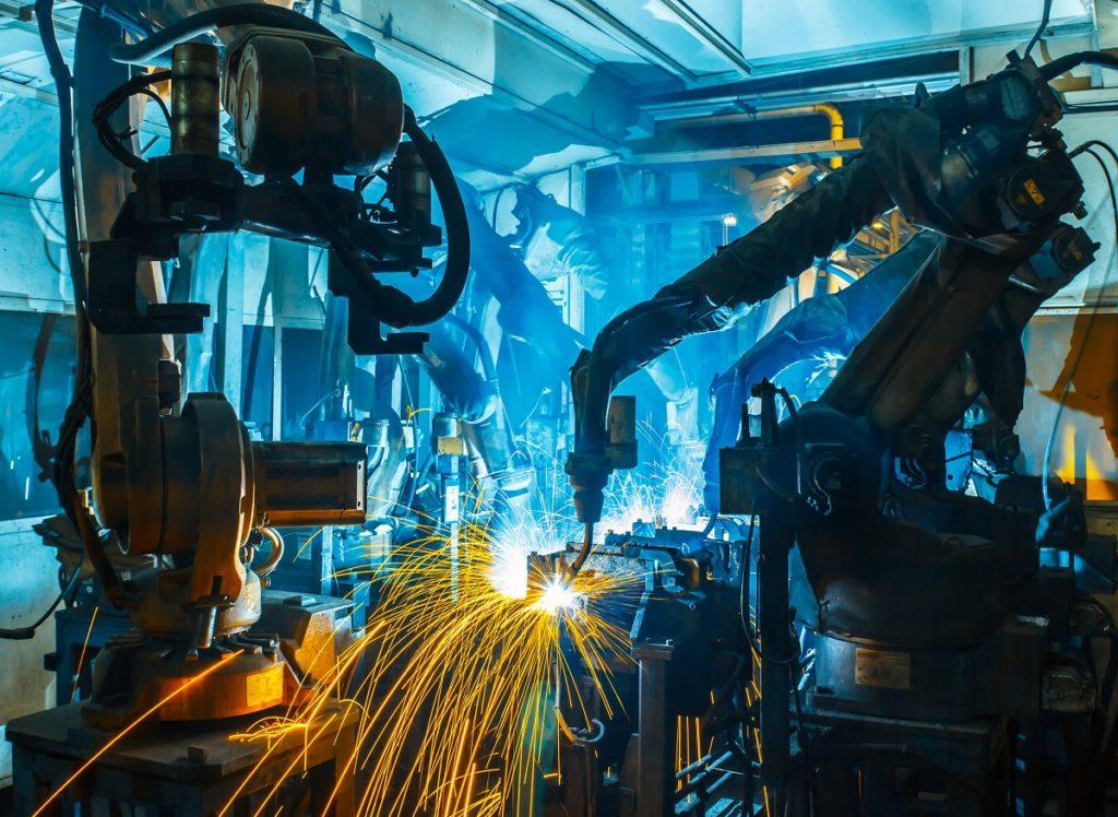 процесс роботизированной сварки