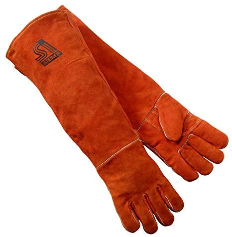 сварочные перчатки длиной до локтя