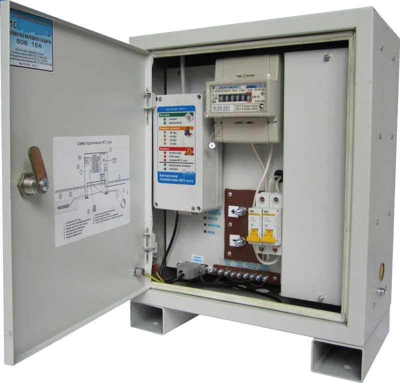 установка активной защиты газгольдера от коррозии