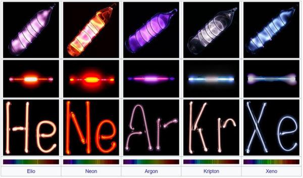 список инертных газов с фотографиями колб
