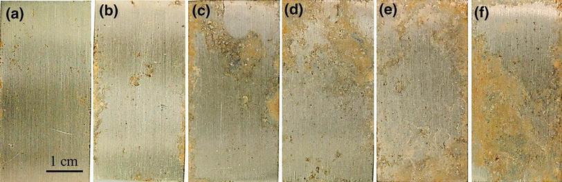 стадии атмосферной коррозии 304ой стали