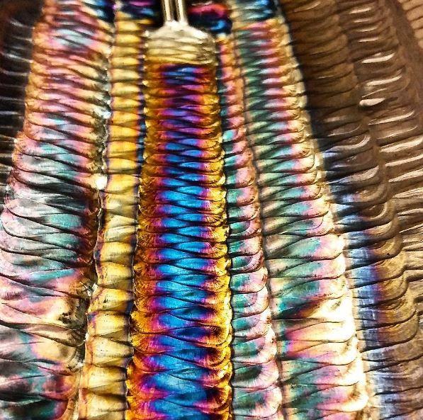 цвет побежалости на сварных швах