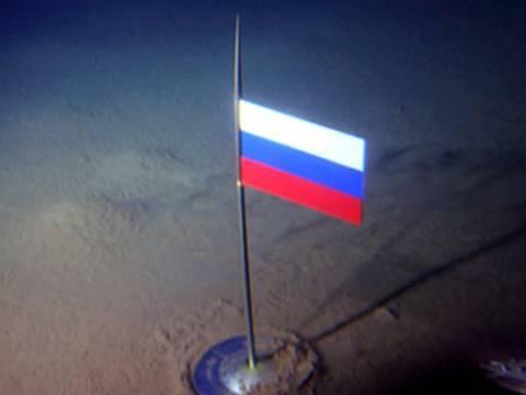 флаг на морском дне