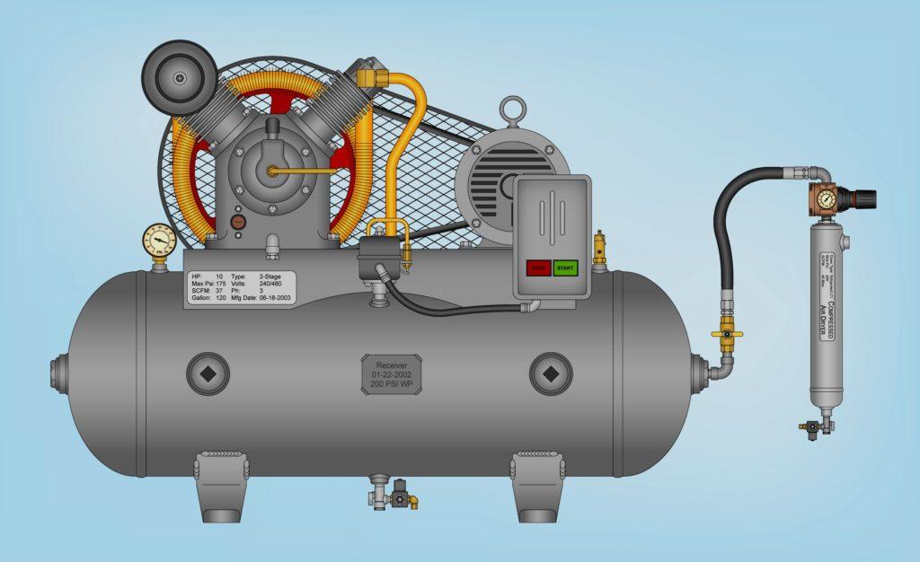 двух этапный компрессор