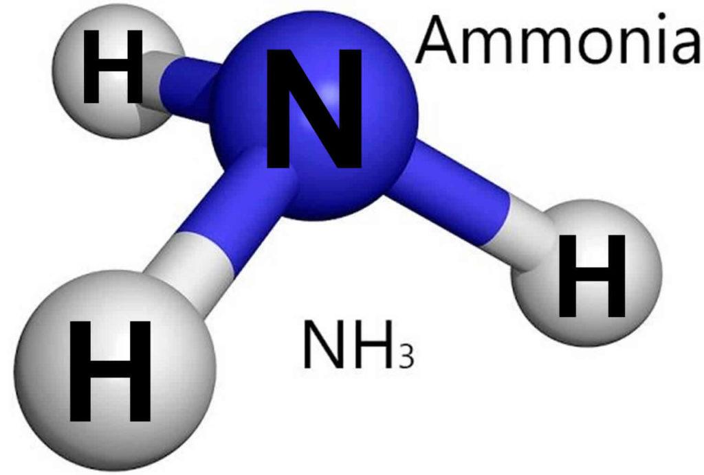химическая молекула аммиака